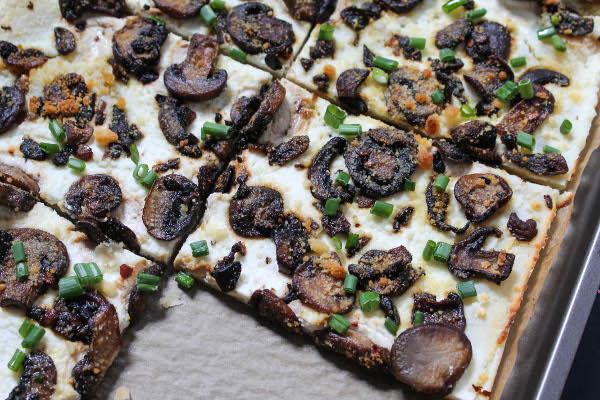 mushroom ricotta tart