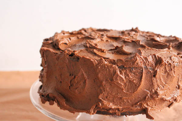 Chocolate Cake with Sour Cream Frosting » Confessions of a Chocoholic