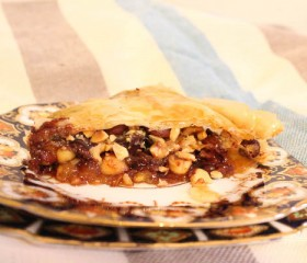 chocolate hazelnut baklava