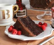 double chocolate cake slice