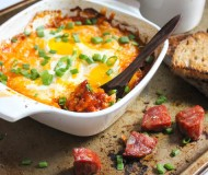 spicy eggs with chorizo