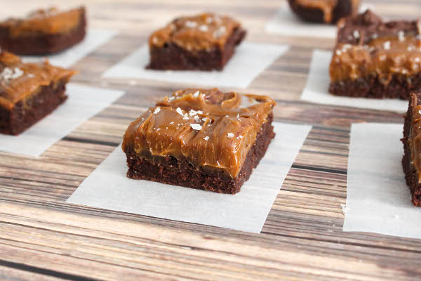 dulce de leche brownies with smoked sea salt