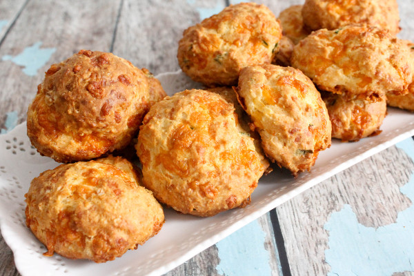 Cheddar And Scallion Biscuits Recipe — Dishmaps