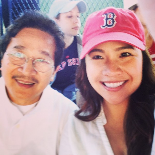 dad and bianca red sox june 2014