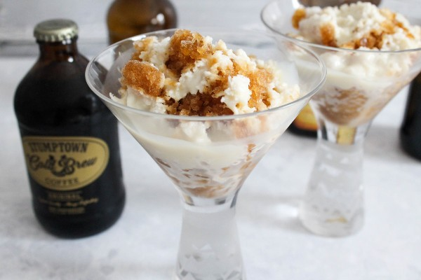 coffee granita with condensed milk
