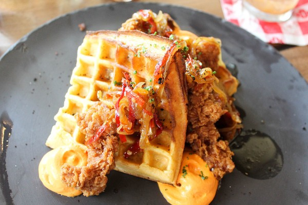 townsman brunch chicken and waffles