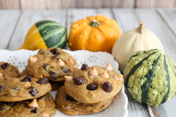 Pumpkin Cookies with Butterscotch and Chocolate Chips ...
