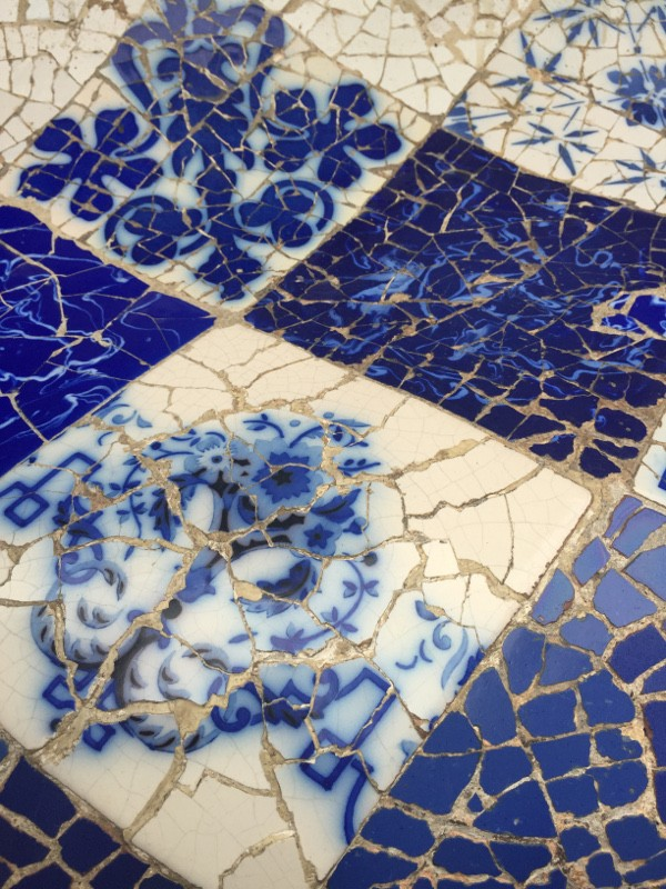 parc guell mosaic close up
