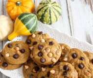 pumpkin cookies with butterscotch and chocolate chips