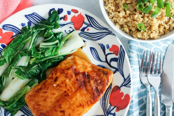 baked salmon for two
