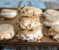 mini coconut ice cream sandwiches