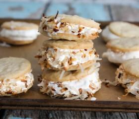 mini coconut ice cream sandwiches