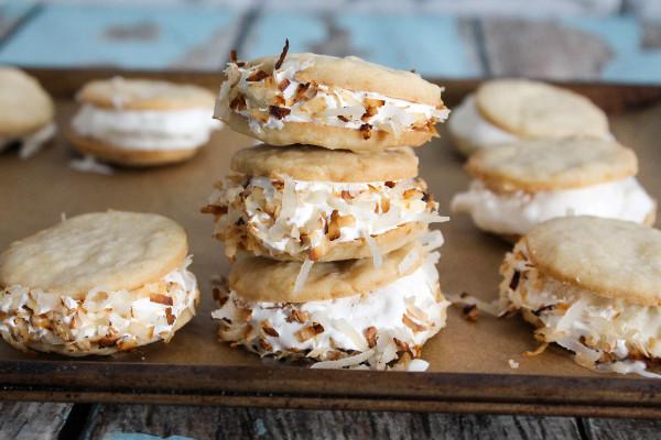 Mini Coconut Ice Cream Sandwiches Confessions Of A Chocoholic