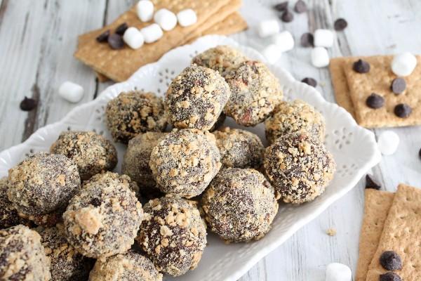 boozy smores truffles