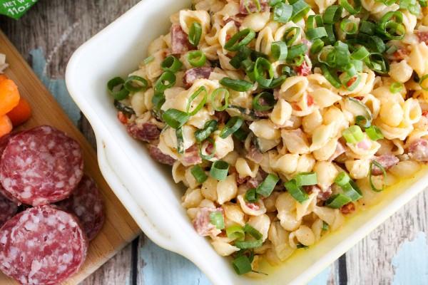 zesty salami pasta salad