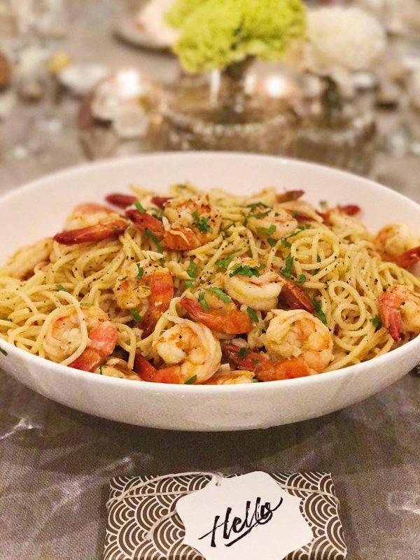 lora shrimp pasta