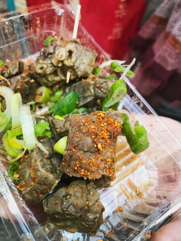 beef lung kuromon ichiba market