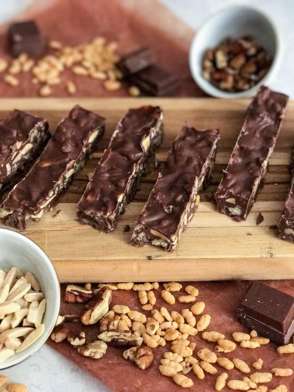 homemade nutty chocolate bars