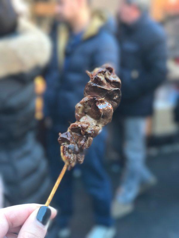 chicken liver yakitori