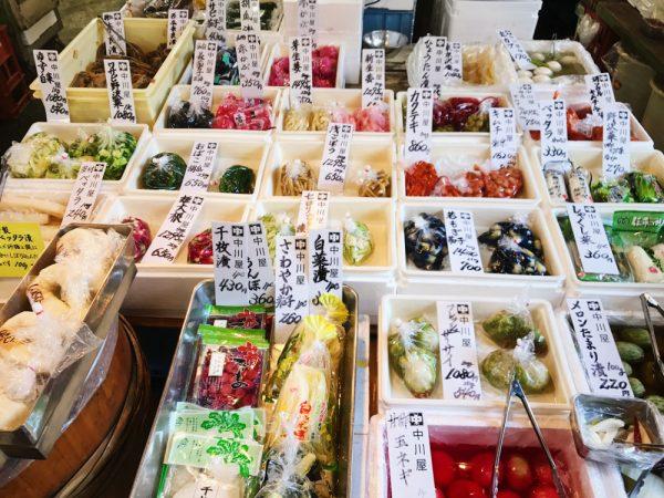 pickled vegetables tsukiji