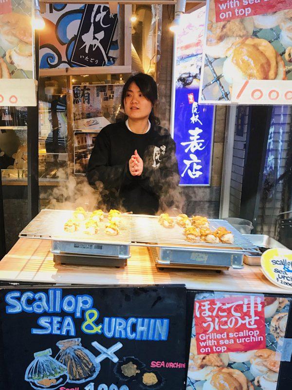 scallop sea urchin tsukiji