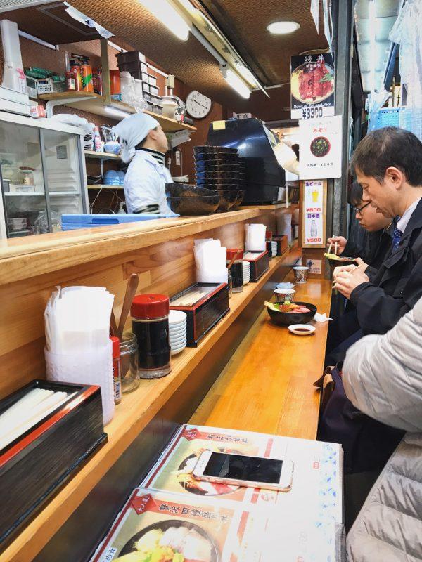 tsukiji sushi counter